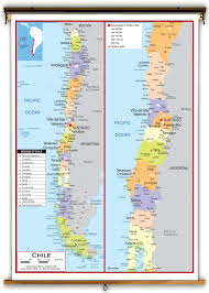 Political Map Of South America Chile Political Educational Wall Map From Academia Maps