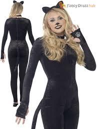 Teen Witch Halloween Costume Ladies Teen Girls Black Cat Witch Costume Halloween Fancy Dress
