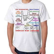 american sign language deaf culture multicolor tee everyday
