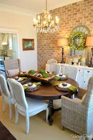 Dining Room Table Decor Ideas by Captivating 40 Brick Dining Room 2017 Design Ideas Of Decorating