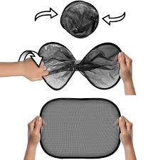 igadgitz 2 pack fold up universal car window shades sun uv blinds