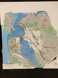 San Francisco Bart Map Bart Map From Ye Not Too Distant Dayes