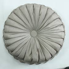 Large Sofa Pillows Back Cushions by Vezo Home Handmade Round Sofa Decorative Satin Cushions Plush Font