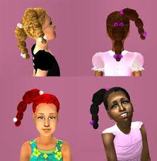 D  The sims and For kids on Pinterest Mod The Sims   Animated Plaits for Kids  now with   extra colors