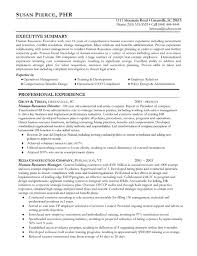 Summary Of Qualifications Sample Resume by Human Resources Resume Example Sample