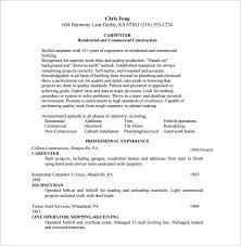 Journeyman Electrician Resume Sample by Carpenter Resume Examples 10 College Resume Templates Free
