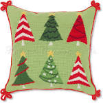 Christmas Tree Holiday Throw Pillow