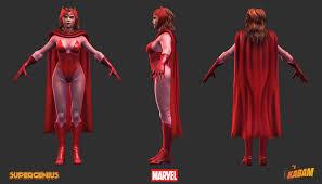 marvel scarlet witch costume artstation marvel scarlet witch robert fink