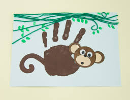 handprint monkey twinkl craft idea kuvis pinterest monkey