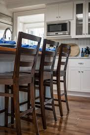 Counter Height Kitchen Islands Furniture Brown Stain Wooden Counter Height Stool With Ladder