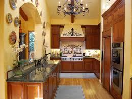 kitchen wooden kitchen set feat stone backsplash wall and