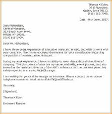 Executive Assistant Job Resume by 11 Cover Letter For Administrative Assistant Job Basic Job