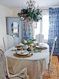 Dining Room Table Decor Ideas by Coastal Chic Holiday Table Hgtv