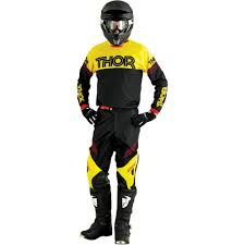 black motocross jersey thor phase s16 motocross jersey hyperion black yellow 2016