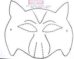 free printable wolf masks stencil twilight family