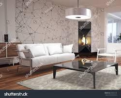 Furniture Of Living Room Modern Interior Design Living Room 3d Stock Illustration 424535128