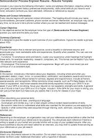 Career Goals Examples For Resume by Download Intel Process Engineer Sample Resume