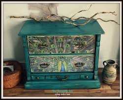 Hand Painted Furniture by The Turquoise Iris Furniture U0026 Art Teal Vintage Dresser Chest
