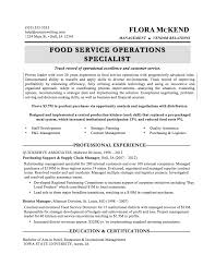 Fast Food Resume Samples by Resume Example Customer Service Manager Resume Food Service Sample