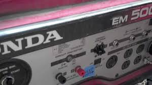 honda generator surging problem youtube