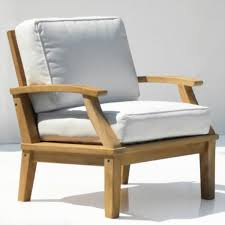 Discount Teak Furniture St Barts Deep Seating Teak Outdoor Arm Chair With Cushions Outdoor