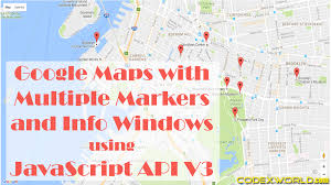 Fgoogle Maps Google Maps With Multiple Markers And Info Windows Using