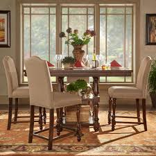 Counter Height Dining Room Tables by Homesullivan Madison 5 Piece Sand Beige Counter Height Dining Set