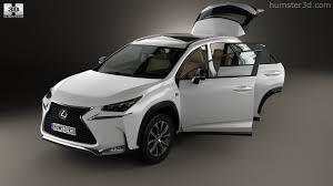 lexus nx sedan 360 view of lexus nx f sport with hq interior 2014 3d model