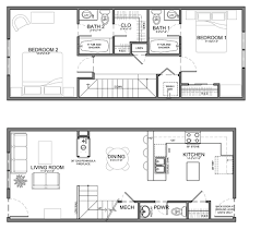 Ada Home Floor Plans by Small Skinny House Plans This Unit Is About The Same Size But