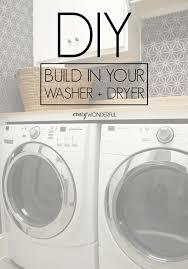 Washer Dryer Cabinet Enclosures by Diy Built In Washer Dryer Crazy Wonderful