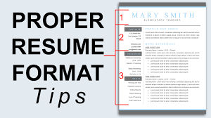 Resume Samples Reddit by Proper Resume Format Resume Formatting Tips Youtube