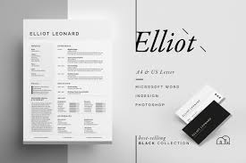 Best Resume Font Style And Size by Resume Cv Elliot Resume Templates Creative Market
