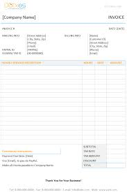 Template For Invoice Word Invoice Template With Hours And Rate Dotxes
