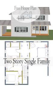 free house plan a two story single family country home