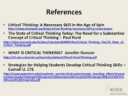 critical thinking on the web a directory of quality online writing materials