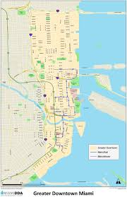 Washington Dc Usa Map by Miami Downtown Map