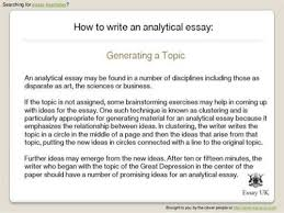 Writing a critical analysis essay sample