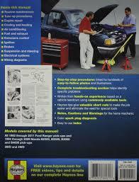amazon com ford ranger u0026 mazda b2300 b2500 b3000 b4000 haynes