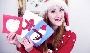 diy cute christmas cards youtube