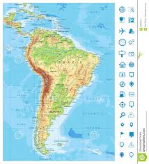 Physical Map Of South America by Physical Map Of South America Ezilon Maps Physical Map Of South