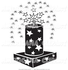 americana vector clip art of a july 4th fireworks fountain with