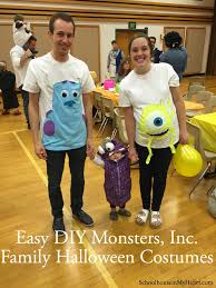 Halloween Costume Monsters Inc Easy Diy Monsters Inc Family Halloween Costume Halloween