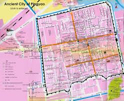 G Map Pingyao Map Ancient City Layout Attractions