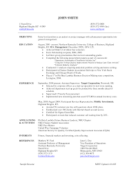 Entry Level Resume Examples by Entry Level Management Resume Free Resume Example And Writing