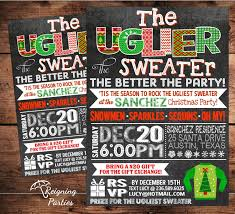 ugly christmas sweater invitations girls baby shower invitations