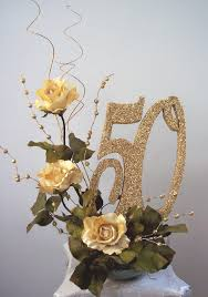 50th anniversary table decorations 50th centerpieces with