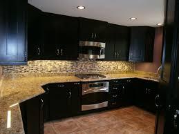 contemporary kitchen design using espresso cabinets furniture