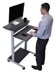 mobile standing desk computer workstation amazon co uk kitchen