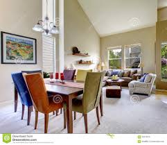 living large beige bright living room dining room table