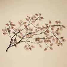 branches at sunrise leaf metal wall sculpture metal wall